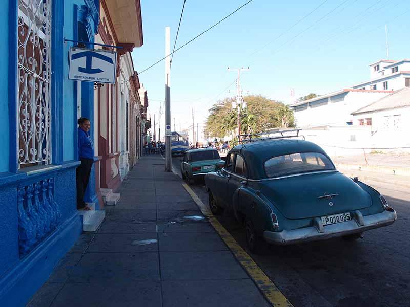 Casa Azul Host, Cienfuego, Cuba, Blue Sky and Wine