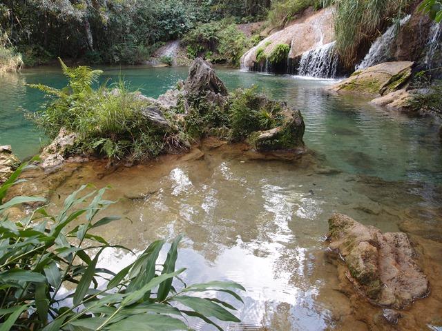 El Nicho Waterfall, Cienfuego, Cuba, Blue Sky and Wine