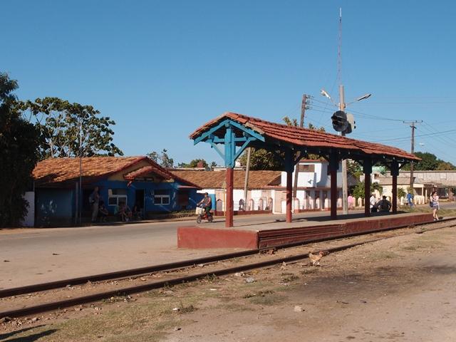 Trinidad train station, Cuba, Blue Sky and Wine