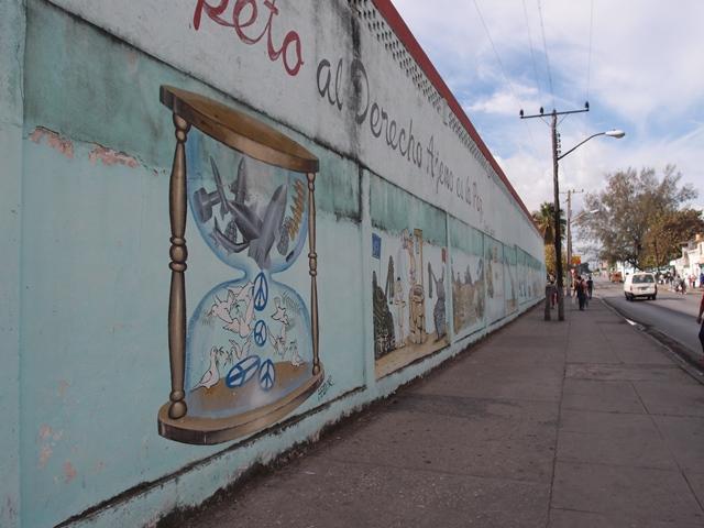 graffiti wall in Santa Clara, Cuba, Blue Sky and Wine