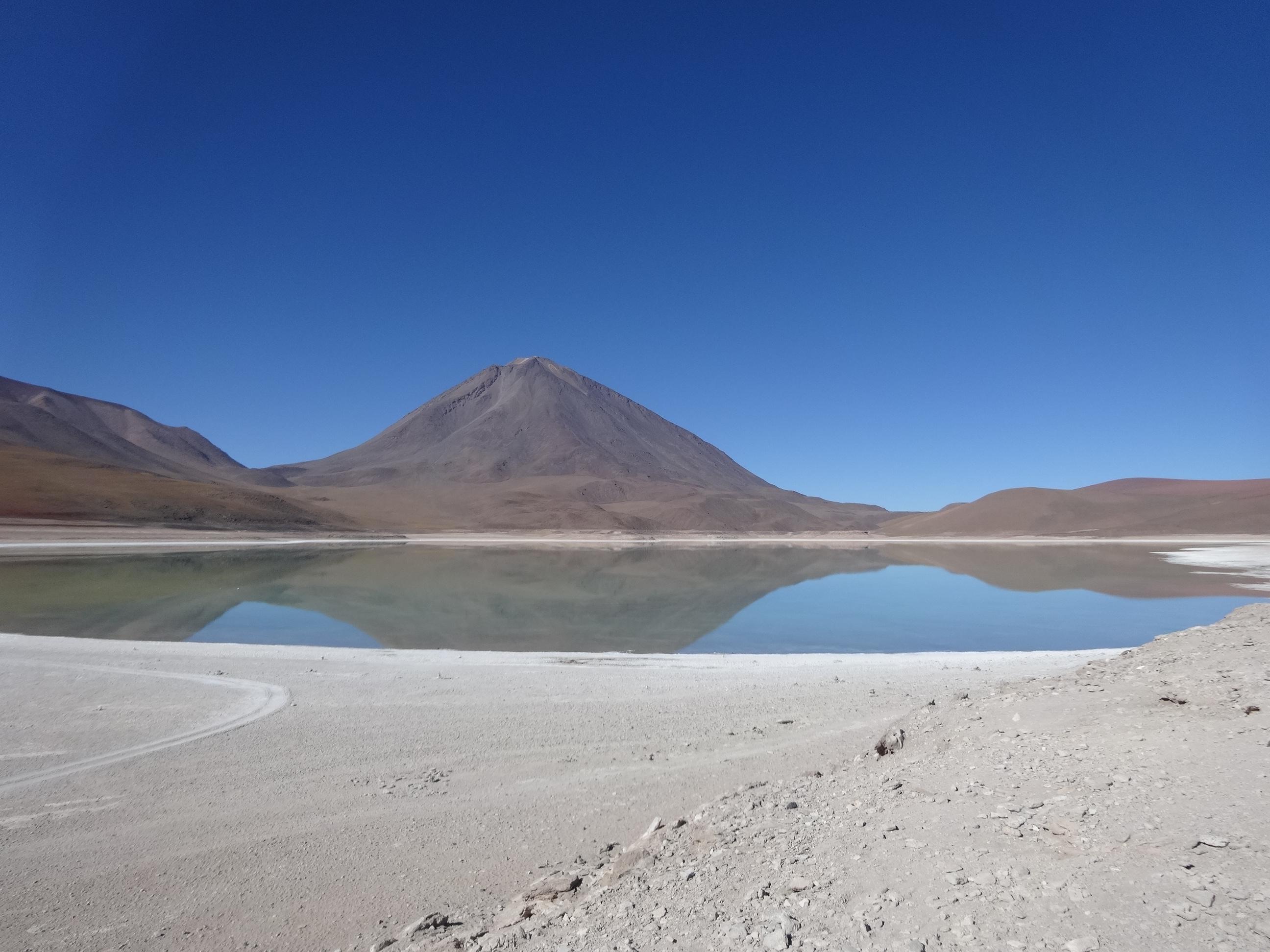 Eduardo Avaroa National Park, Laguna Azul, Salar de Uyuni Tour, Bolivia, Blue Sky and Wine