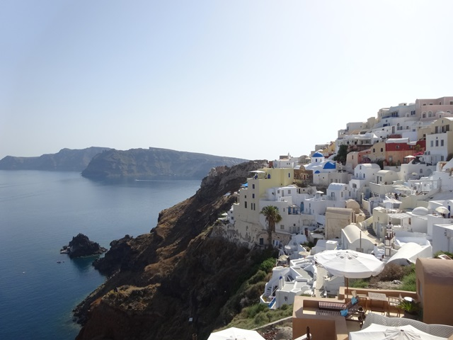 Oia Santorini Greece, Blue Sky and Wine