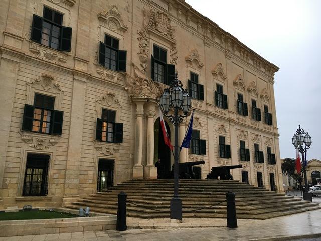City hall in Valletta, Malta, Blue Sky and Wine