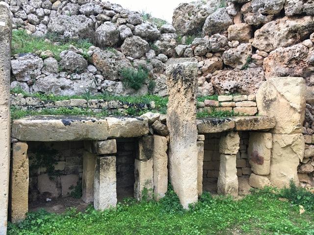 Ggantija Temples in Gozo Island, Malta, Blue Sky and Wine
