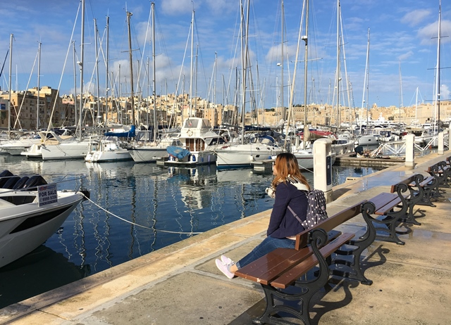 Grand Harbour, Malta, Blue Sky and Wine