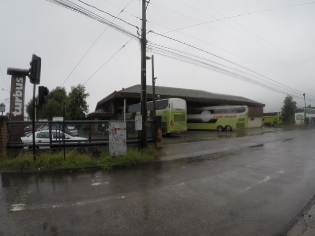 Bus terminal in Pucón, Chile