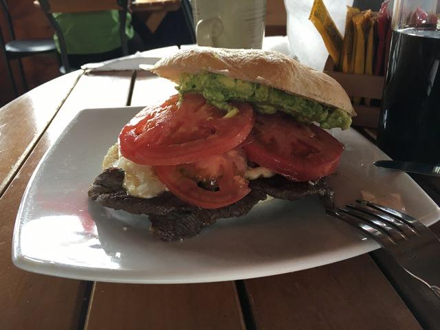 Chacarero, a chilean sandwich