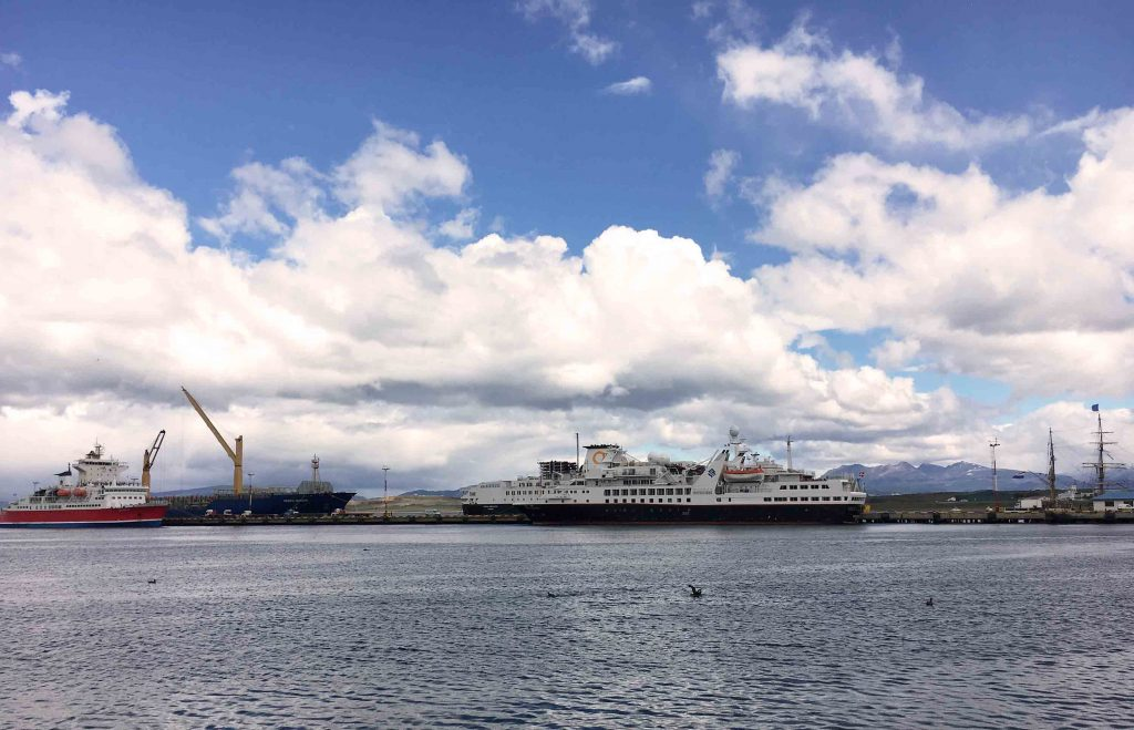 Blue Sky and Wine, Ushuaia Harbour, Argentina