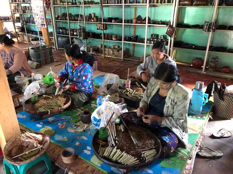 cigar factory inle lake myanmar, Blue Sky and Wine
