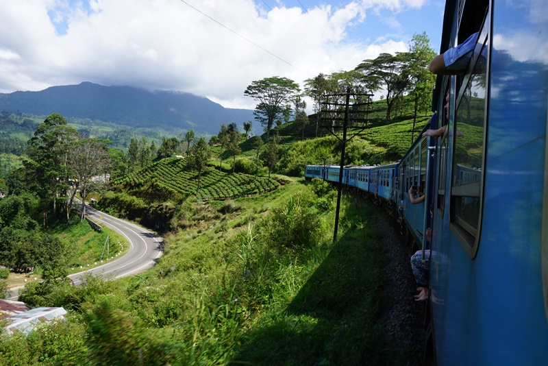 Kandy to Nuwara Eliya train journey, Sri Lanka, Blue Sky and Wine