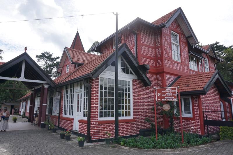 Post office in Nuwara Eliya, Sri Lanka, Blue Sky and Wine