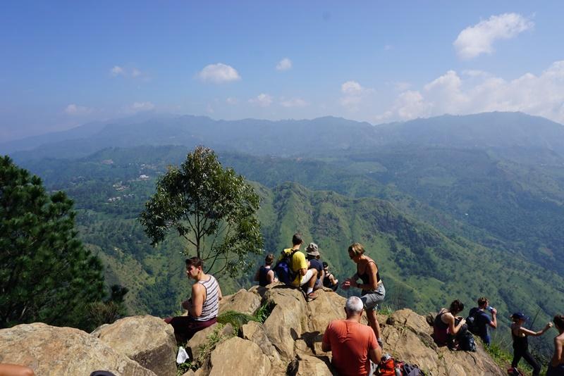 On top of the Ella's rock, Sri Lanka, Blue Sky and Wine
