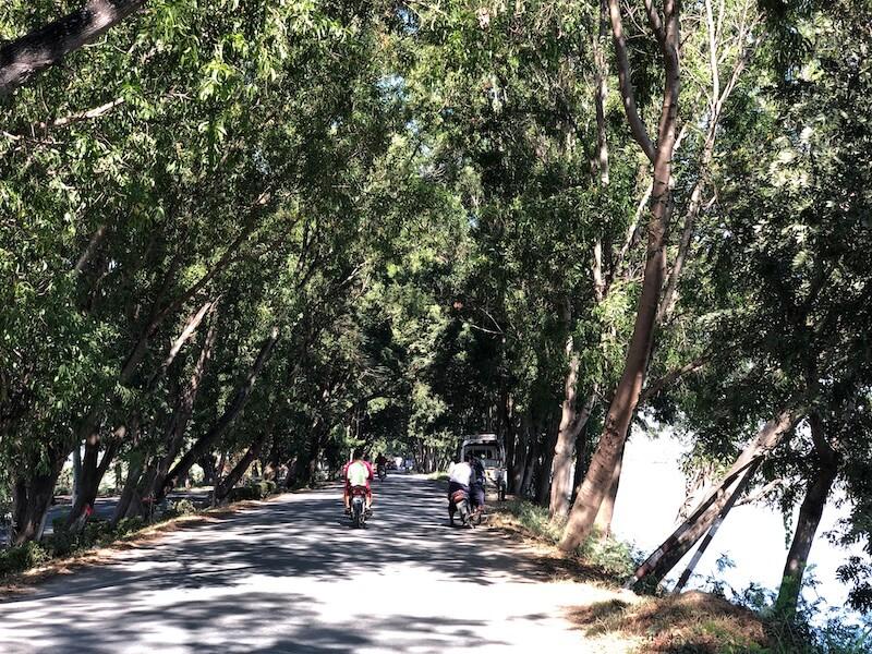 Shwenyaung nyaungshwe road, Inle Lake Myanmar, Blue Sky and Wine