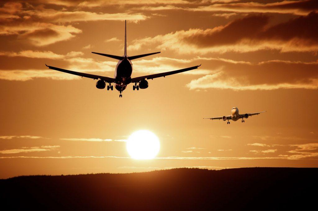 Blue Sky and Wine Airplane landing