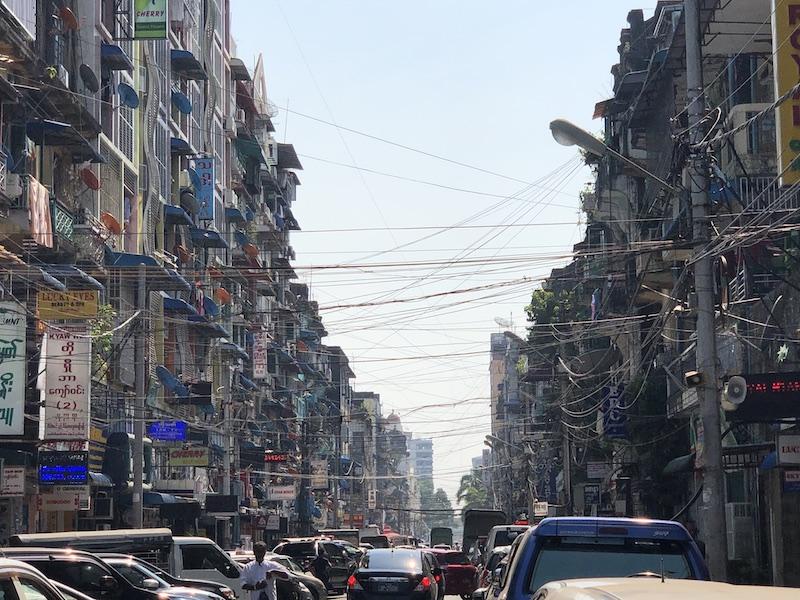 Downtown, Yangon City, Blue Sky and Wine Travel blog