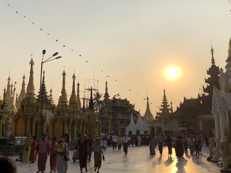 Shwedagon Pagoda, Yangon City, Blue Sky and Wine Travel Blog