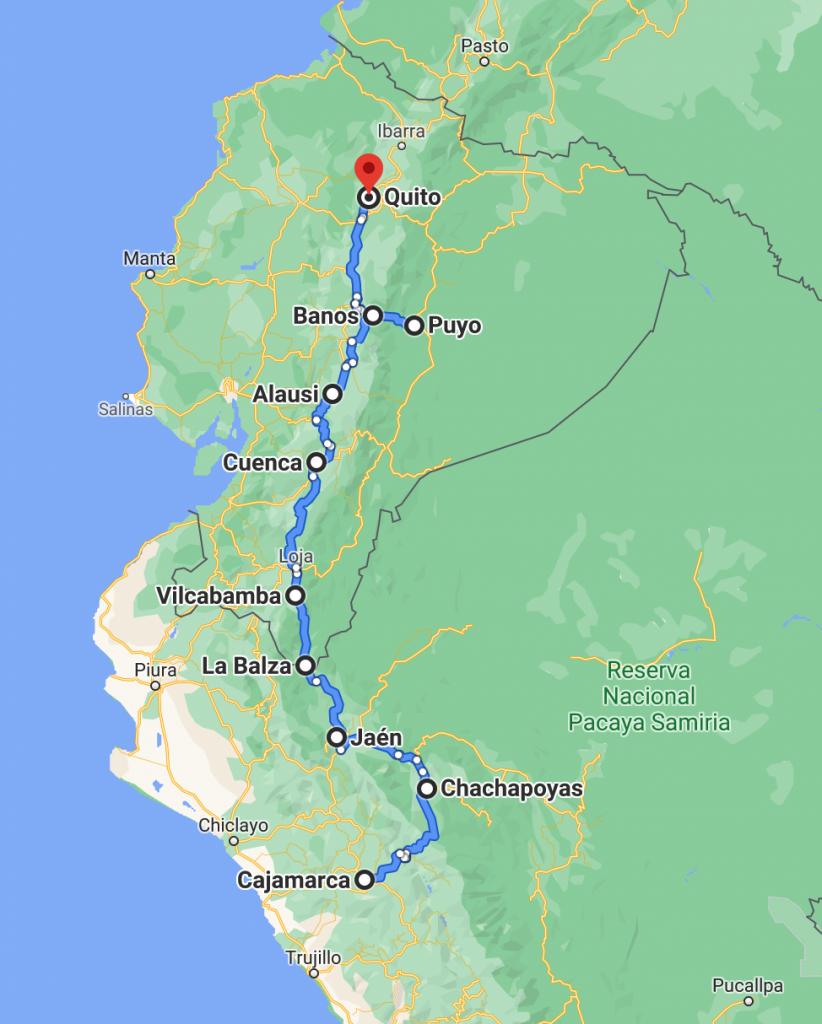 Blue Sky and Wine travel blog, bus journey Northern Peru to Ecuador
