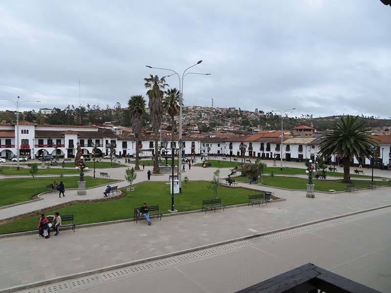 Chachapoyas town center, Blue Sky and Wine Travel Blog