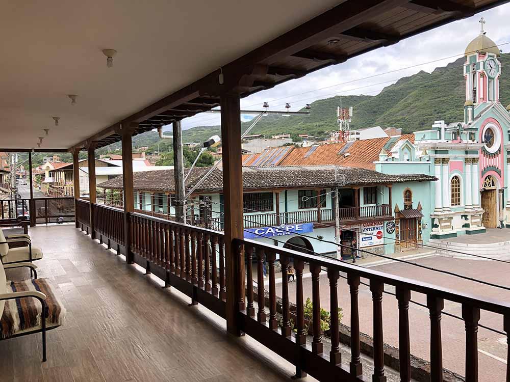 View from Hostal Casa Central in Vilcabamba, Ecuador, Blue Sky and Wine Travel Blog