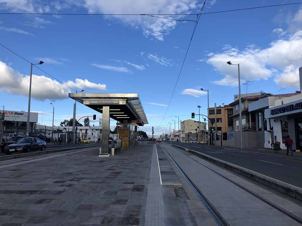 Out side of bus terminal in Cuenca, Ecuador, Blue Sky and Wine Travel Blog