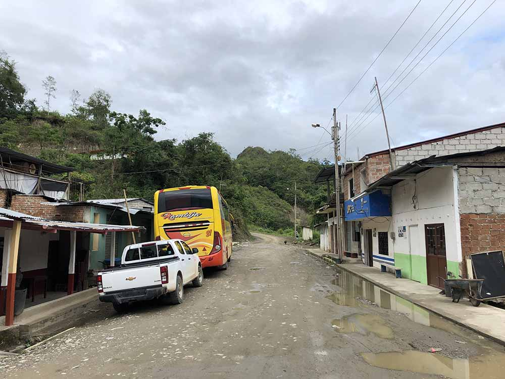 La Balza, border between Peru and Ecuador, Blue Sky and Wine Travel Blog