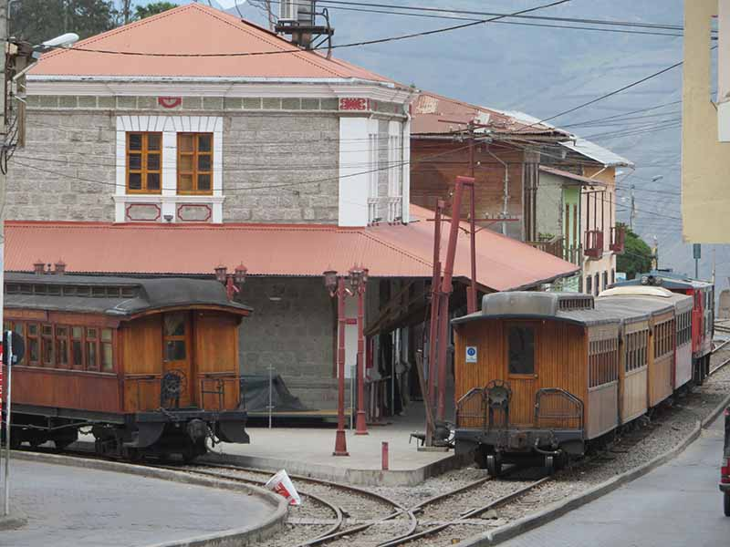 Ecuador alausi train station, Blue Sky and Wine Travel Blog