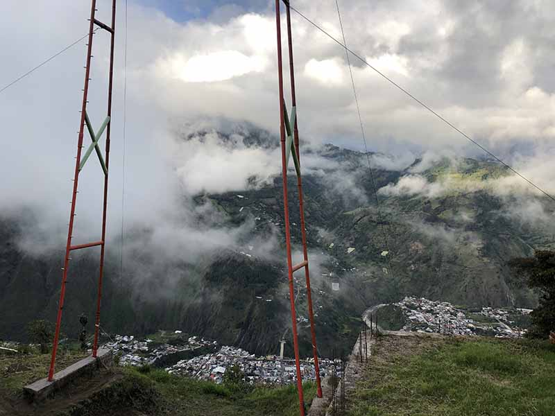 The Giant Swing, Baños, Blue Sky and Wine Travel Blog