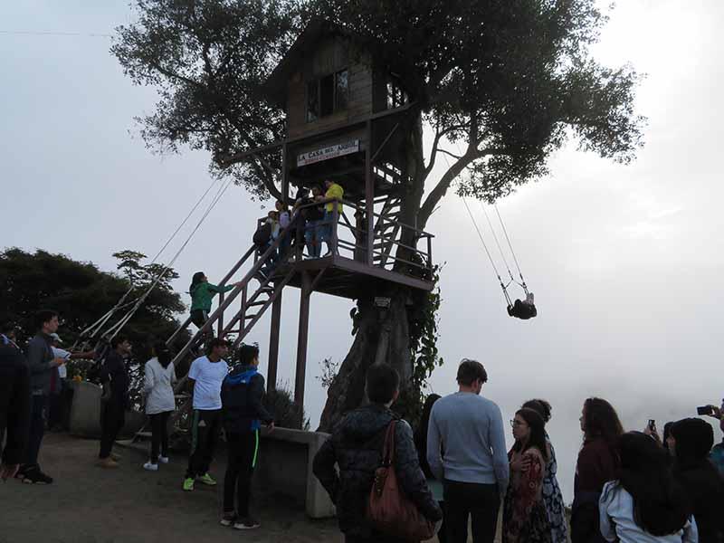 La Casa de Arbol from Baños, Blue Sky and Wine Travel Blog