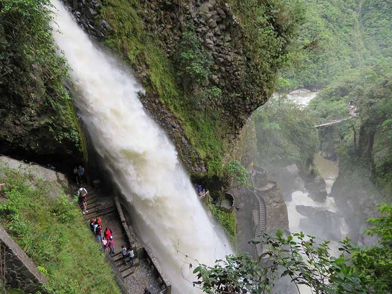 Ecuador banos waterfall tour